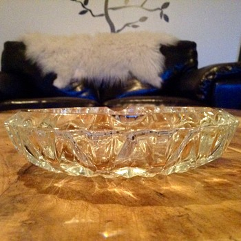 LUMINARC ASHTRAY Verrerie D'arques France Fine cut glass - Tobacciana