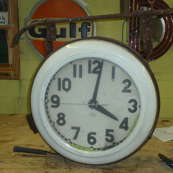 1940 double-sided cleveland clock