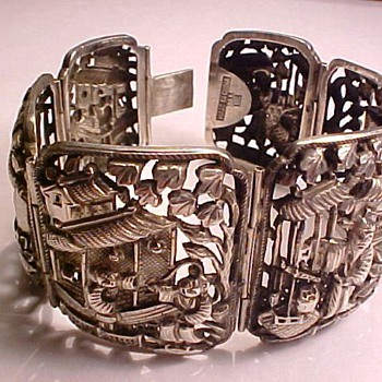 Chinese Silver  Bracelet - Fine Jewelry