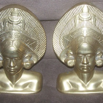 Cool Old Brass Bookends