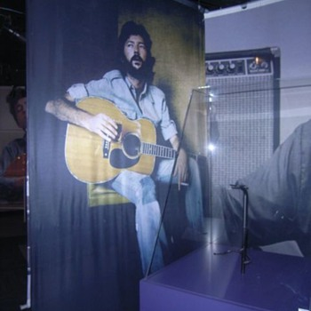 Eric Clapton Silkscreen  -   5.5 feet wide x 9 feet tall  - Music