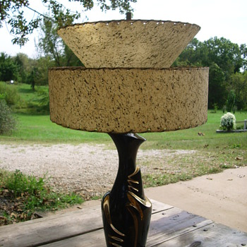 lamp with fiberglass double shade - Lamps