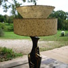 lamp with fiberglass double shade