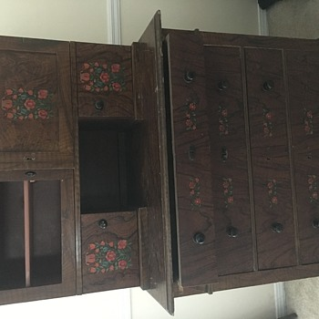 Dresser with hidden safe and hidden compartments with keys