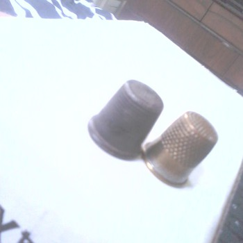 Thimbles - last two up for i.d. (bought a lot of six today...)