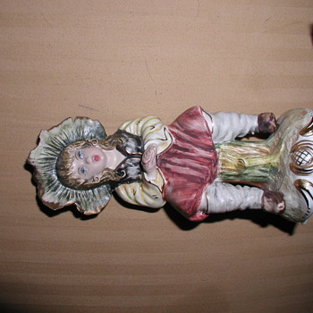Does Anyone Recognize This Precious Small Glass or Ceramic Figurine Handpainted in Italy - Figurines