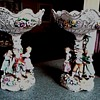 Beautiful Pair of German Von Scheirholz Porcelain Compotes/Circa 1930-1950