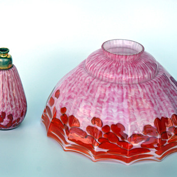 WELZ Lamp Shade pair and matching Perfume - Art Glass