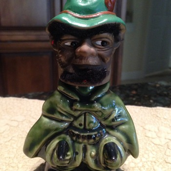 Vintage Black Leprechaun liquor bottle