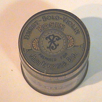 Violin Rosin tin - Advertising