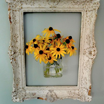 Antique Flower Frame - Folk Art