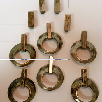 Solid Brass Dresser Drawer Pulls 1940s to 1950s