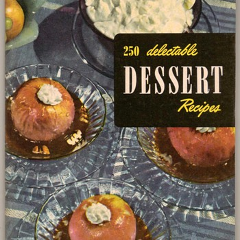 "1949 - Recipe Booklet ""Desserts"" - Books"
