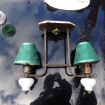 A Couple Antique Ceiling Lamps