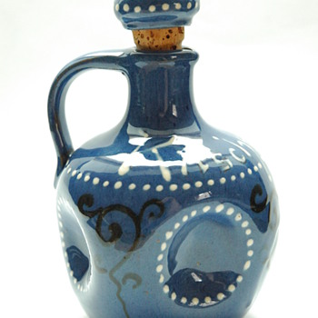 "art nouveau miniature liquor jug ""kirchenwasser"", by LEON ELCHINGER circa 1910"