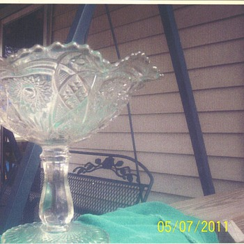 this is pedistal bowl which was gotten in 1972 dont know if it was new or old then - Glassware