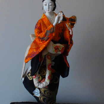 Non geisha doll with mage hairstyle of early Edo period.