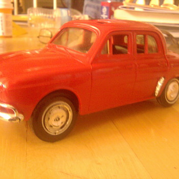 Hubley  Renault Dauphine promo car...Odd then &amp; now.