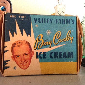 Bing Crosby Ice Cream box - Advertising