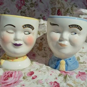 1997 Bailey's Winking Coffee Cups- His and Her's