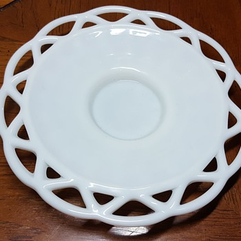 Milk Glass Plate - Glassware