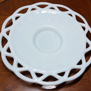 Milk Glass Plate - Glassware