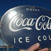 #5 Well made Coca-cola blue porcelain sign