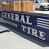 1940's THE GENERAL TIRE Porcelain Neon Sign HUGE double sided