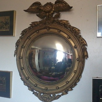 Federal Mirror(2), Wood and Plaster, Shot from Behind for Sleuths... - Furniture