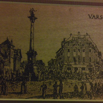 Varsovia etching on wood?