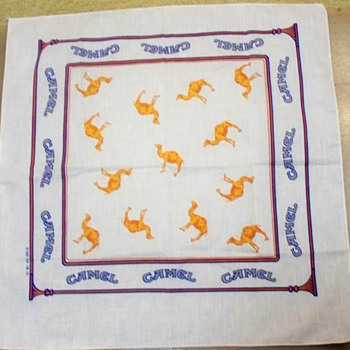 1982 Advertising RJR Camel Cigarette Hankerchief / Hankie - Accessories