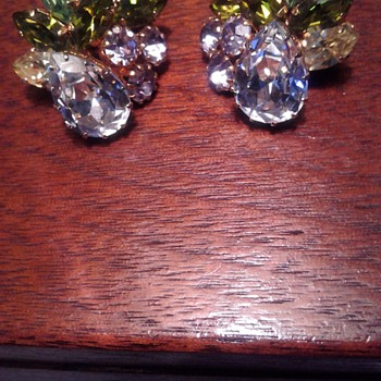 Schoffel Rhinestone Clipons - Costume Jewelry
