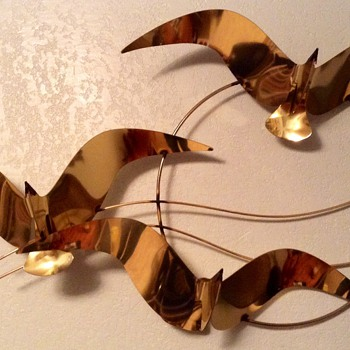 Curtis Jere Brass Seagull Wall sculpture