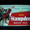 Hampden Beer-Ale 1950&#039;s Outside Advertising Sign