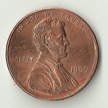 1999 lincoln error dual denomination reverse on obverse and obverse on reverse