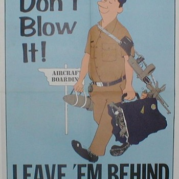 1971 USAF Safety Poster - Explosives