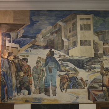 Kingston, PA Post Office WPA Mural - Visual Art