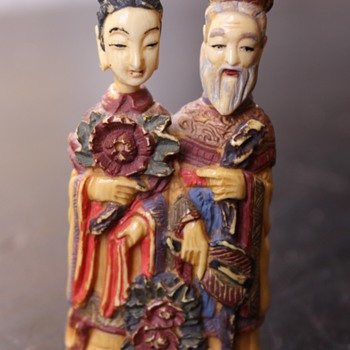 Royal Couple Snuff Bottle - Asian