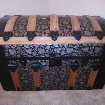 Restored Round Top Trunk - Furniture