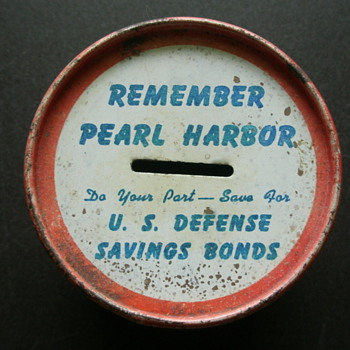 Remember Pearl Harbor Saving Bank - Military and Wartime