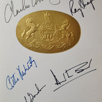 APOLLO-12 CREW AUTOGRAPHED 1970 PROGRAM !!!