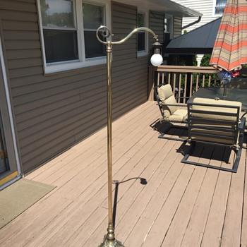 Solid brass floor lamp with european plug