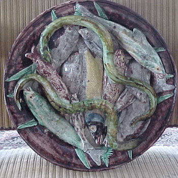 Palissy Ware / Majolica Charger, circa 1870 - Art Pottery