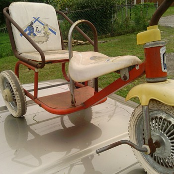 vintage childs 2 seat bike