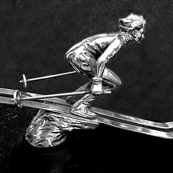 Man Skier Mascot, by A. E. LeJeune - Art Deco