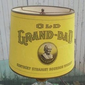 Old grand dad lamp w/ shade