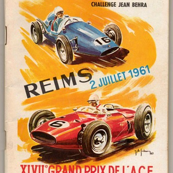 1961 - French Grand Prix Race Program - Paper