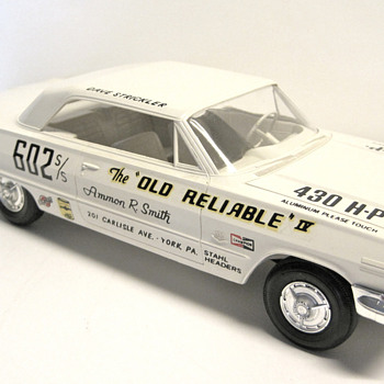 The Old Reliable - Grumpy Jenkins and 1963 Chevrolet Impala Z-11 427 V8 factory lightweight race car - Model Cars