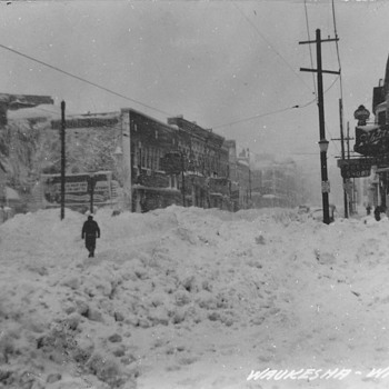 Our Towns Famous Blizzard of 1947 Postcard