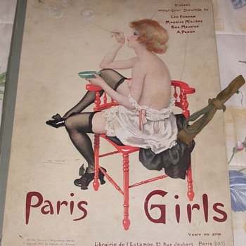 Paris Girls 16 Water Color Drawings/Prints Leo Fontan + - Posters and Prints